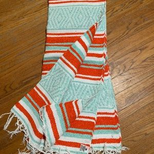 Mexican blanket with carrying straps